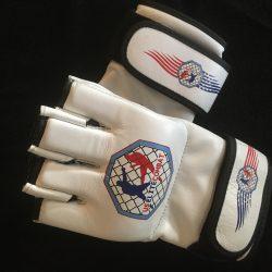 US Elite Combat White MMA Gloves