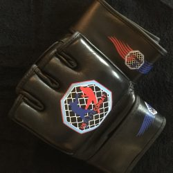 US Elite Combat Black MMA Gloves